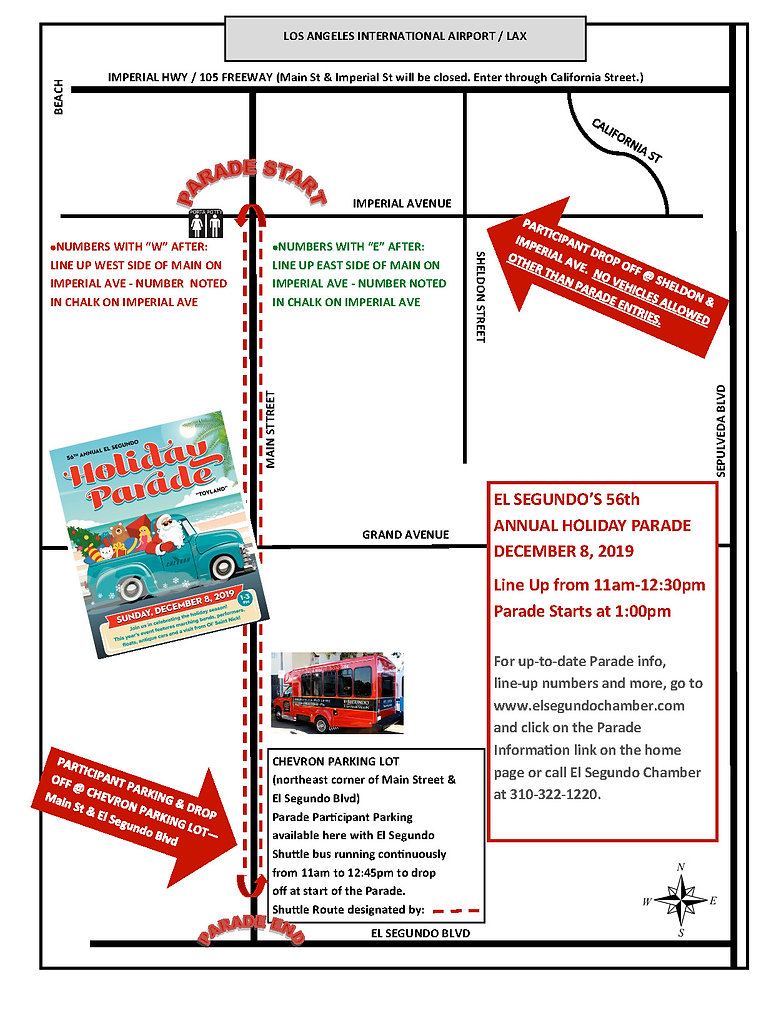 Parade Route Map and drop off locations-