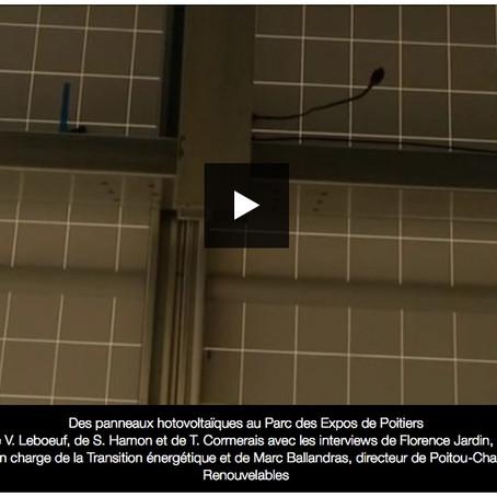 Poitiers : le parking du parc des expos se pare d'ombrières photovoltaïques