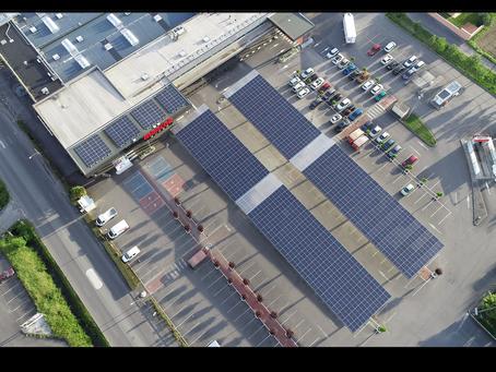 LIntermarché de Pouzac s'équipe de centrales solaires en autoconsommation de 310 kWc
