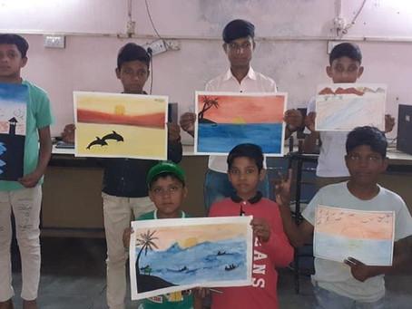 Summer camp held at various Sewa Bharti centres in Delhi.