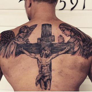 Spiritual Back Piece Tattoo