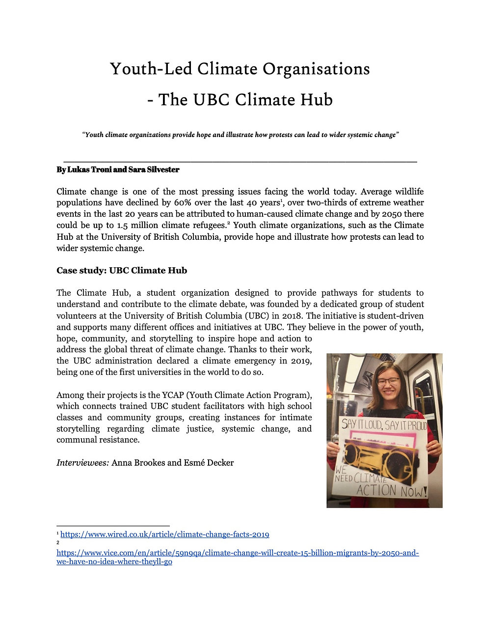 Youth-Led Climate Organisations_Sara and