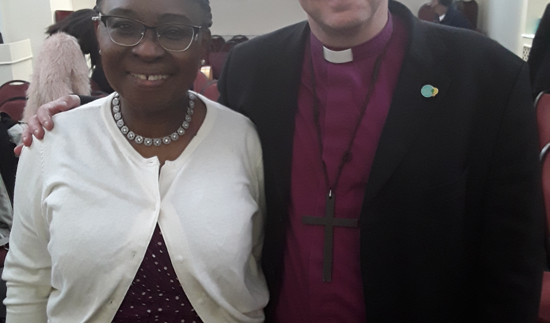Ps Christina and the Bishop