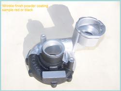 Wrinkle powder coating sample red or black