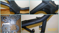 Harley Davidson wrinkle powder coating