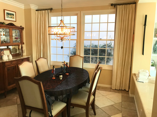 DRAPERY Fan Pleat - Dining Room - Huntin