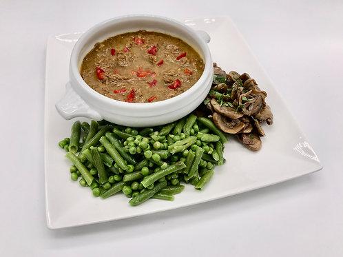 Vietnamees Stoofvlees met groene groentjes en champignons