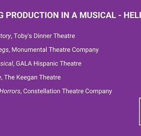 Nominated for Eight 2020 Helen Hayes Awards