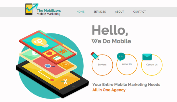 Reklama a marketing website templates – Mobilní marketing
