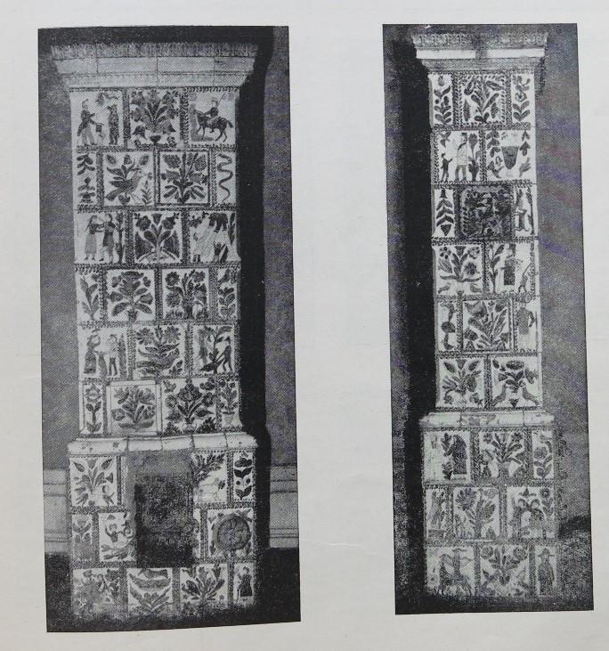 źródło - Leszek Dzięgiel w zeszycie naukowym Polska Sztuka Ludowa, marzec-kwiecień nr 2, 1954 Malowane kafle z Rybnej