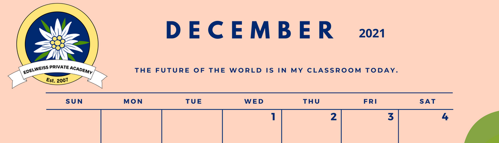 December 2021 EPA Calendar