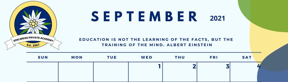 September 2021 EPA Calendar