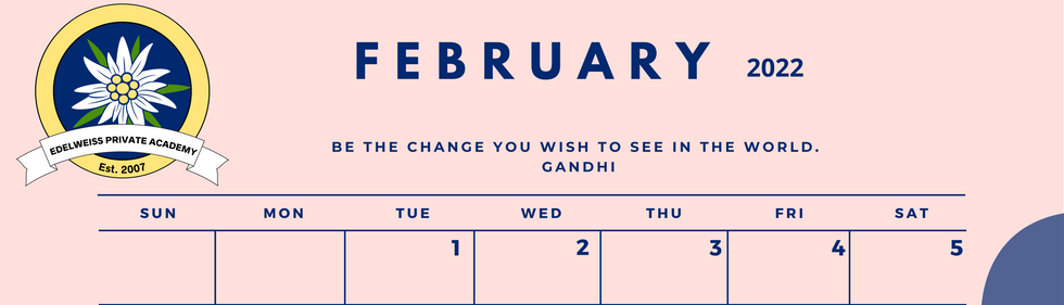 February 2022 EPA Calendar