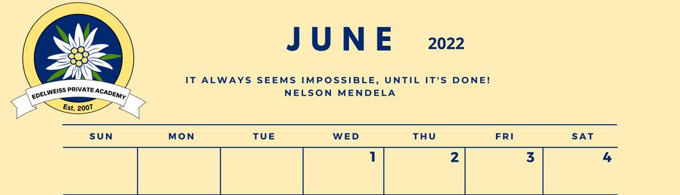 June 2022 EPA Calendar