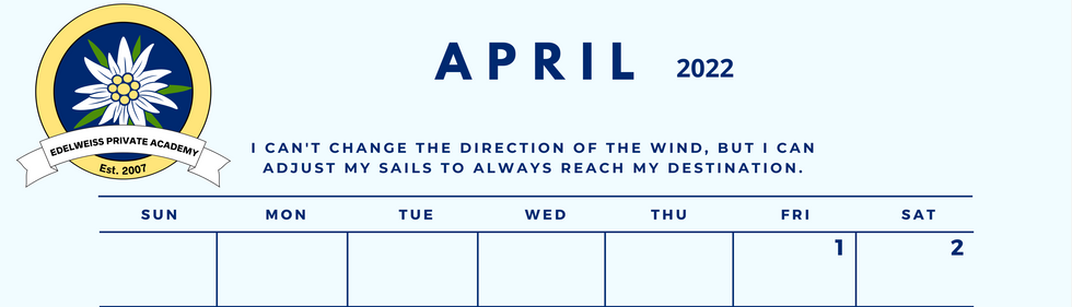 April 2022 EPA Calendar