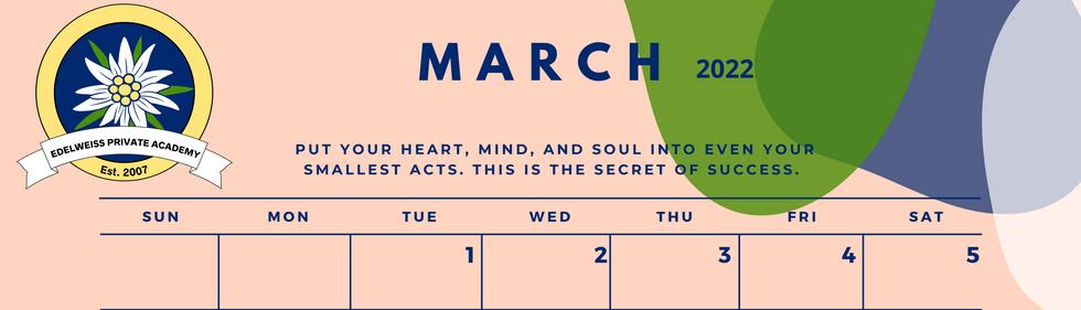 March 2022 EPA Calendar