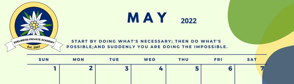 May 2022 EPA Calendar