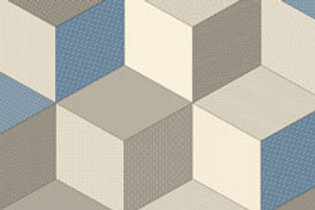 Rococo Cubes Blue