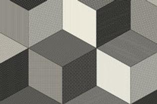 Rococo Cubes Grey