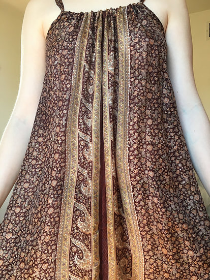 Silk, shades of brown size small
