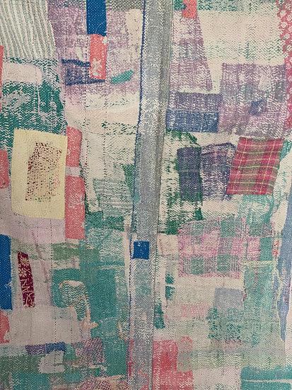 """Vintage Kantha Quilt """"Pastels"""""""
