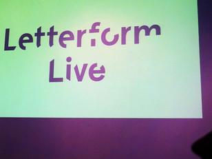 Letterform Live: FOOD.