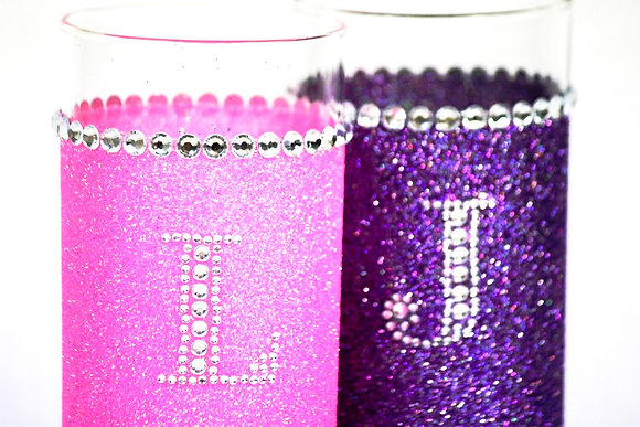 Glitter personalised hiball glass