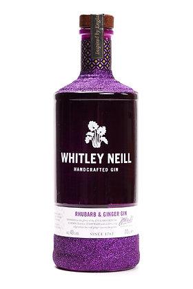 Whitley Neill Rhubarb & Ginger Glitter Gin Bottle