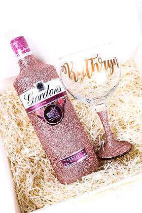 Pink Gin Glitter Deluxe Gift Set