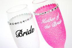 Glitter Personalised Champagne Glasses