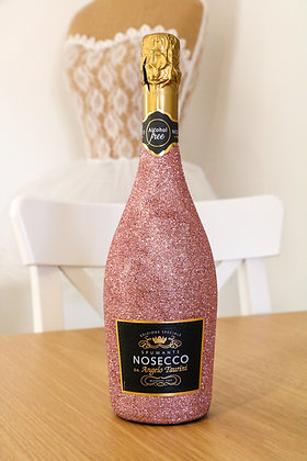 Rose Gold Glitter Nosecco Bottle  (Alcohol free)