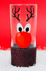 Christmas Glitter Hiball Glass
