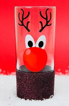 Christmas Glitter Hiball Glass