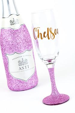 Glitter Prosecco Bottle