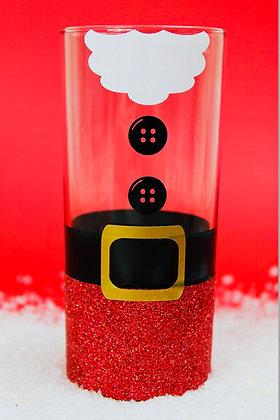 Santa Hiball Glitter Glass