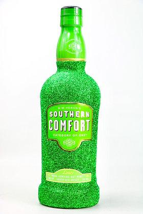 Glitter Lime Southern Comfort Bottle