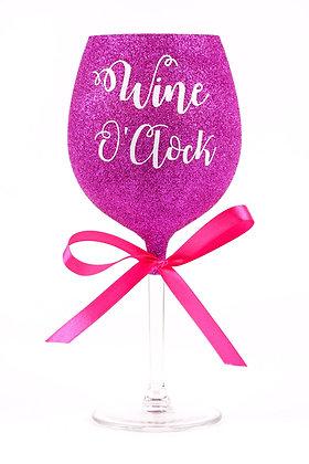Glitter Wine O'Clock Large Wine Glass