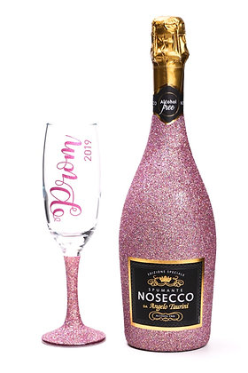Glitter Nosecco Bottle Gift Set (Alcohol free)