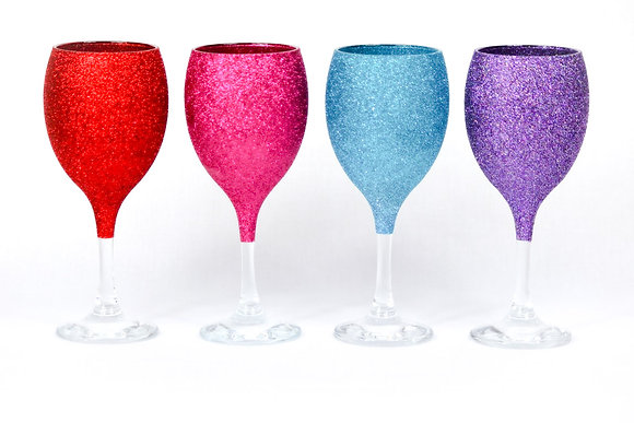 Glitter Wine Glass - PACKAGE Deal