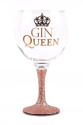Gin Queen Glitter Gin Glass