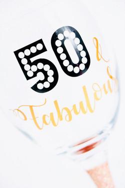 Birthday Glitter Wine Glasses