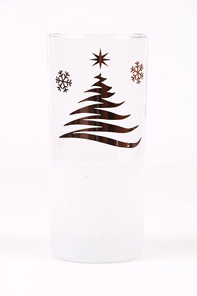 Christmas Tree Glitter Hiball Glass