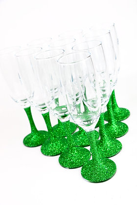 Glitter Champagne Glass - PACKAGE Deal