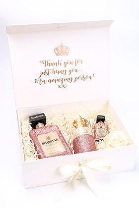 Glitter Disaronno Bottle & Glass Gift Set