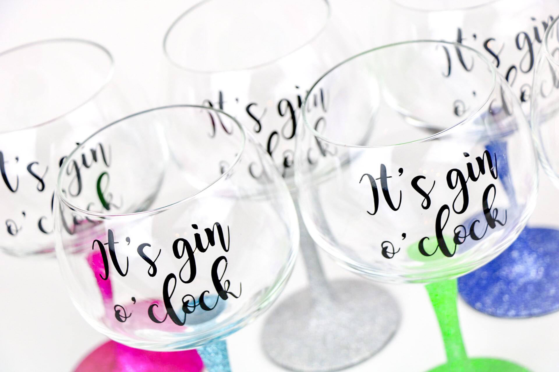 Glitter gin glasses gin oclock