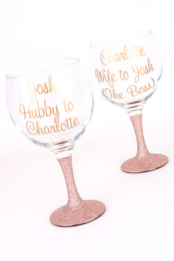 Personalised Glitter Gin Glass