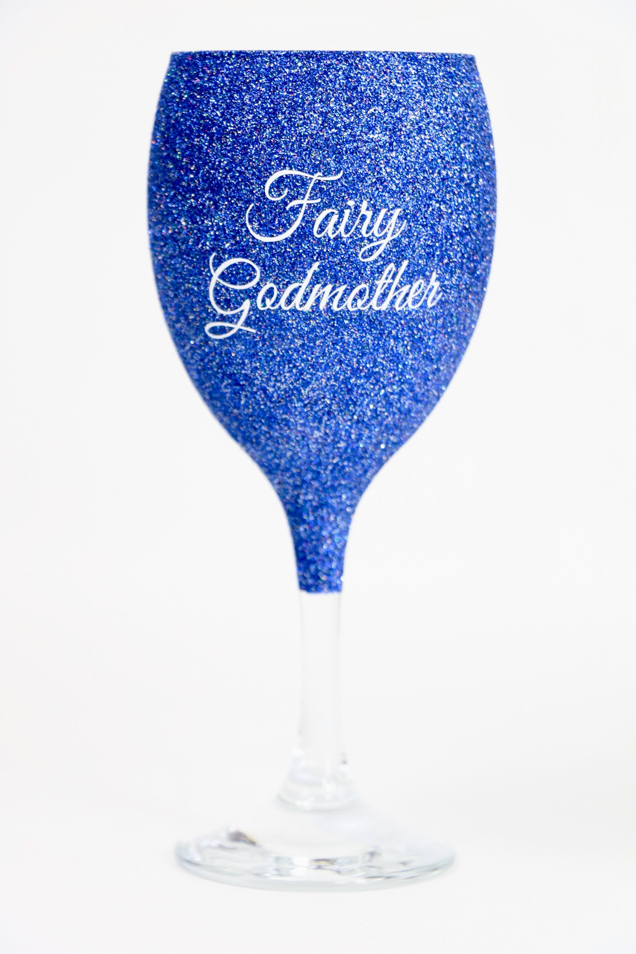 Godmother Glitter Wine Glass