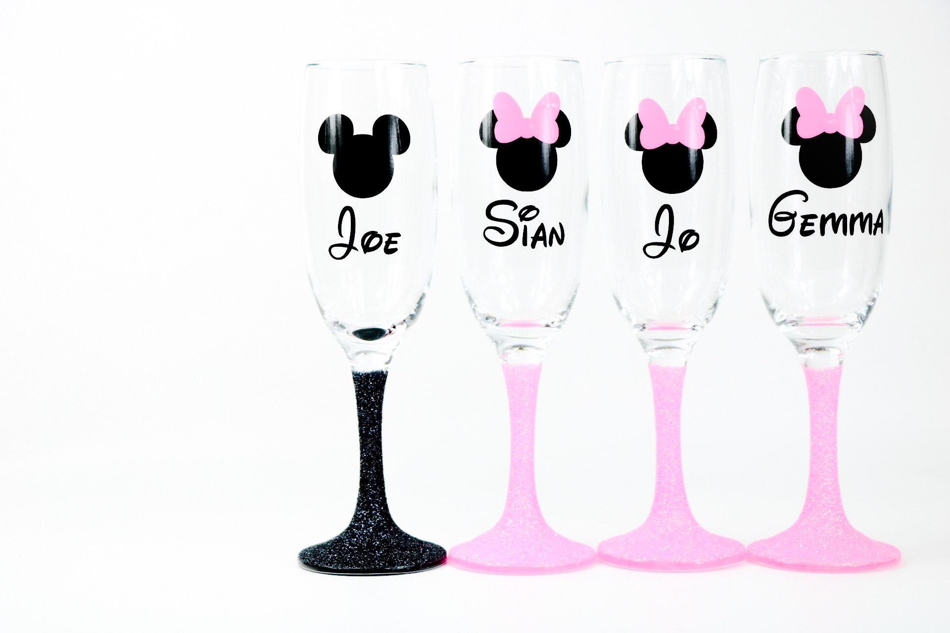Disney Glitter Champagne Glass