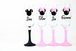 Disney Glitter Champagne Glass