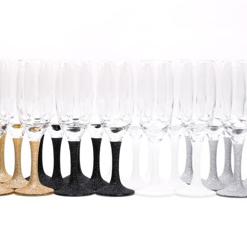 Glitter Champagne Glasses